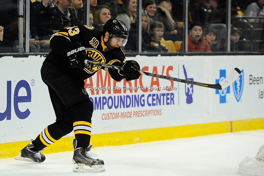 January 20, 2014 - Boston, Massachusetts, U.S. - Boston Bruins defenseman Matt Bartkowski (43) in game action during the NHL game between Los Angeles Kings and the Boston Bruins held at TD Garden in Boston Massachusetts. The Bruins defeated the Kings 3-2 in regulation time.   Eric Canha/CSM