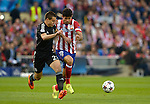 Cesar Azpilicueta (L) vies with Diego Costa during the UEFA Champions League semifinal first leg football match Club Atletico de Madrid vs Chelsea FC at the Vicente Calderon stadium in Madrid on April 22, 2014.   PHOTOCALL3000/DP-Sipa