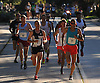 Aaron Braun of Flagstaff, AZ, front left (bib #1) leads the pack in Northport's annual Cow Harbor 10K run on Saturday, Sept. 17, 2016. He won the race with a time of 29:23.92.