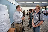 "Ben Sappey presents, ""Oxidation of Hydrocarbons Catalyzed by an Earth-abundant Metal Compound""<br /> Mentor: Michael Hill, Chemistry<br /> Occidental College's Undergraduate Research Center hosts their annual Summer Undergraduate Research Conference on July 31, 2019. Student researchers presented their work as either oral or poster presentations at this final conference. The program lasts 10 weeks and involves independent research in all departments.<br /> (Photo by Marc Campos, Occidental College Photographer)"