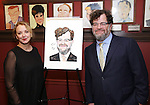 J Smith Cameron and Kenneth Lonergan attend the unveiling of the Kenneth Lonergan caricature at Sardi's on February 17, 2017 in New York City.