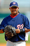 9 March 2007: Washington Nationals infielder Ronnie Belliard in action against the Baltimore Orioles at Fort Lauderdale Stadium in Fort Lauderdale, Florida. <br /> <br /> Mandatory Photo Credit: Ed Wolfstein Photo