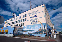 USA, Alaska, Gebäude auf der 1st Avenue in Fairbanks