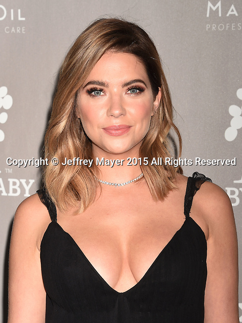 CULVER CITY, CA - NOVEMBER 14: Actress Ashley Benson attends the 2015 Baby2Baby Gala presented by MarulaOil & Kayne Capital Advisors Foundation honoring Kerry Washington at 3LABS on November 14, 2015 in Culver City, California.