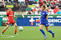 Portland, OR - Sunday, May 29, 2016: Seattle Reign FC midfielder Carson Pickett (16) during a regular season National Women's Soccer League (NWSL) match at Providence Park.