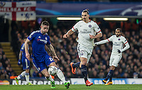 during the UEFA Champions League Round of 16 2nd leg match between Chelsea and PSG at Stamford Bridge, London, England on 9 March 2016. Photo by Andy Rowland.