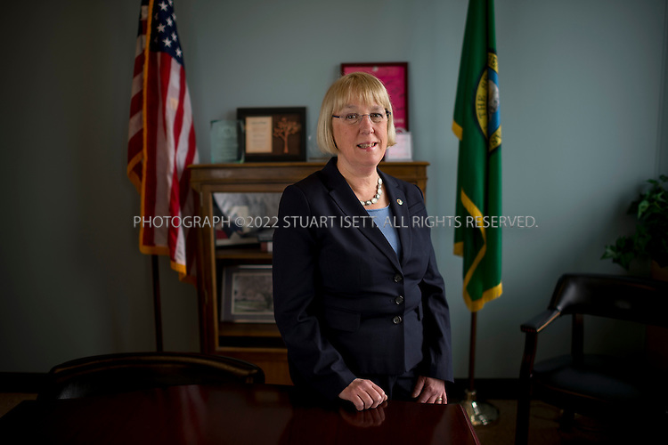 4/21/2014&mdash;Seattle, WA, USA<br /> <br /> United States Senator Patty Murray, 63, posing in her Seattle office. Murray was first elected to the Senate in 1992, becoming Washington's first female senator. She was re-elected in 1998, 2004 and 2010. Murray has served as the Senate Majority Conference Secretary since 2007, making her the fourth-highest-ranking Democrat and the highest-ranking woman in the Senate.<br /> <br /> <br /> Photograph by Stuart Isett<br /> &copy;2014 Stuart Isett. All rights reserved.