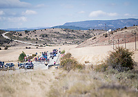 with strong crosswinds, the peleton fractures into many pockets of riders (9 groups through the feedzone) and makes for fierce racing form start to finish at (very) high average speeds<br /> <br /> Stage 17: Aranda de Duero to Guadalajara (220km)<br /> La Vuelta 2019<br /> <br /> ©kramon