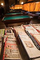 Europe/Autriche/Niederösterreich/Vienne: Café traditionnel viennois: Sperl - les journaux à disposition des consommateurs