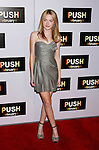 "WESTWOOD, CA. - January 29: Actress Dakota Fanning arrives at the Los Angeles Premiere of ""Push"" at the Mann Village Theater on January 29, 2009 in Westwood, California."