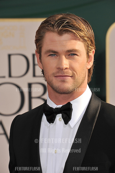 Chris Hemsworth at the 68th Annual Golden Globe Awards at the Beverly Hilton Hotel..January 16, 2011  Beverly Hills, CA.Picture: Paul Smith / Featureflash