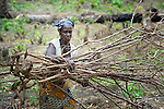 "Martha Francis, 53, works with several dozen women to grow cassava on a six-acre farm in Mount Barclay, Liberia. The income-generating project, called ""Say No to Poverty,"" is administered by the National Federation of Women Employees and Allied Workers, with financial support from United Methodist Women."