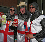 25 June 2006: The England fans dressed as St. George. England (1st place in Group B) played Ecuador (2nd place in Group A) at Gottlieb-Daimler Stadion in Stuttgart, Germany in match 51, a Round of 16 game, in the 2006 FIFA World Cup.