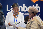 Lambeth Council information stall at Jobs Fair, Brixton Town Hall