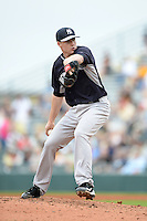 Pitcher Chase Whitley (83) of the New York Yankees during a spring training game against the Pittsburgh Pirates on February 26, 2014 at McKechnie Field in Bradenton, Florida.  Pittsburgh defeated New York 6-5.  (Mike Janes/Four Seam Images)