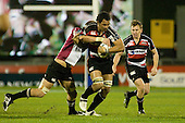 Taiasina Tuifua tries to break free of Chris Smith's tackle. Air New Zealand Cup rugby game between Counties Manukau Steelers & North Harbour, played at Mt Smart Stadium on August 10th, 2007. The game ended in a 13 all draw.