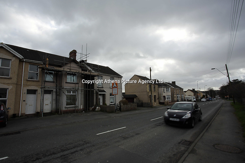 Pictured: The B4297 Pontardulais Road, in Llangennech, west Wales. Thursday 24 February 2017<br />