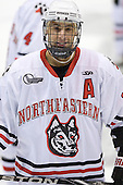 Drew Daniels (Northeastern - 24) - The visiting St. Francis Xavier University X-Men defeated the Northeastern University Huskies 8-5 on Sunday, October 2, 2011, at Matthews Arena in Boston, Massachusetts.