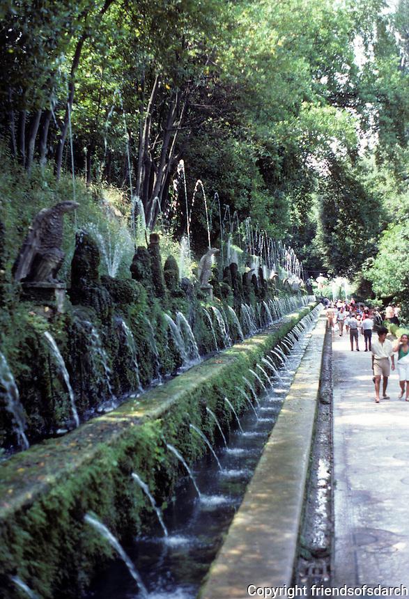 Tivoli: Villa D'Este--The Hundred Fountains (Viale Delle Cento Fontane). Designed by Pirro Ligorio, 1510-1583. Photo '83.