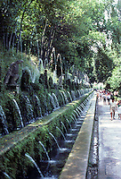 Tivoli: Villa D'Este--The Hundred Fountains (Viale Delle Cento Fontane). Designed by Pirro Ligorio, 1510-1583. Photo '83.