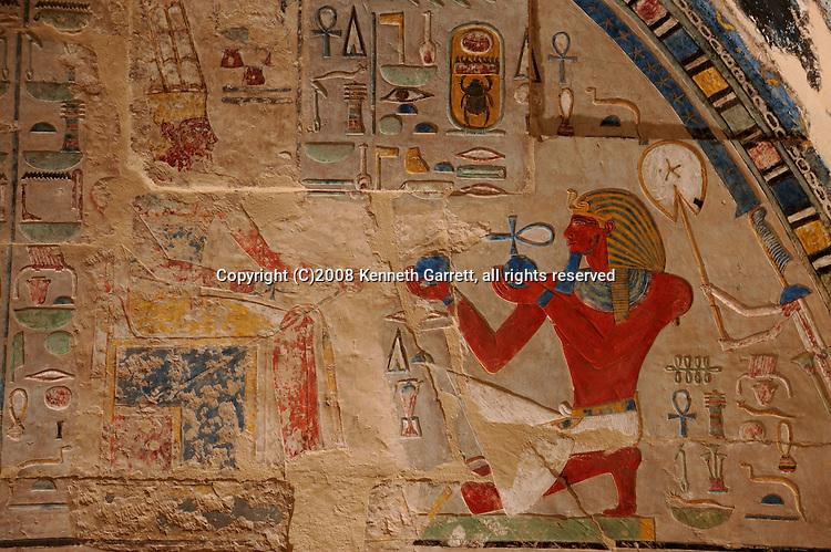 Hatshepsut; Egypt; Dier El Bahri; Luxor; Main Sanctuary of Amun-Re; Thutmosis III; 18th dynasty; New Kingdom