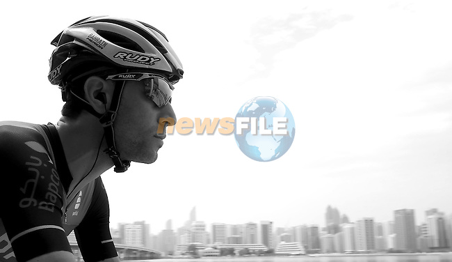Vincenzo Nibali (ITA) Bahrain-Merida at sign on before the start of Stage 2 the Nation Towers Stage of the 2017 Abu Dhabi Tour, running 153km around the city of Abu Dhabi, Abu Dhabi. 24th February 2017<br /> Picture: ANSA/Matteo Bazzi | Newsfile<br /> <br /> <br /> All photos usage must carry mandatory copyright credit (&copy; Newsfile | ANSA)