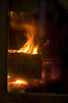 Fireplace fire, wood energy