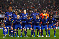 27th November 2019; Mestalla, Valencia, Spain; UEFA Champions League Footballl,Valencia versus Chelsea; Chelsea team line up prior to the game - Editorial Use