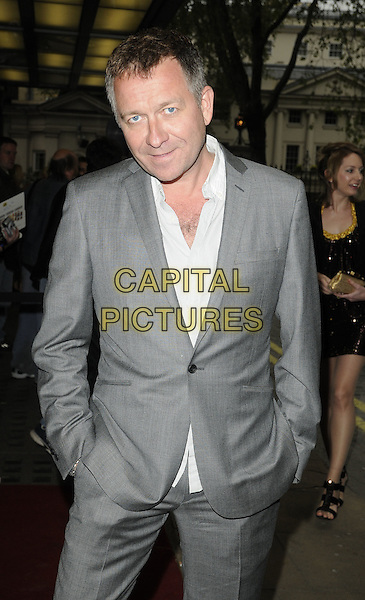 "SEAN PERTWEE.The ""Just For The Record"" gala screening, Curzon Mayfair cinema, London, England..May 5th, 2010.half length grey gray suit white shirt hands in pockets.CAP/CAN.©Can Nguyen/Capital Pictures."