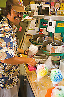 Matsumoto's Shave Ice, a Haleiwa tradition since 1951, and the best way to cool off on Oahu's North Shore, Hawaii