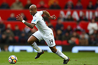 Andre Ayew of Swansea City during the Premier League match between Manchester United and Swansea City at the Old Trafford, Manchester, England, UK. Saturday 31 March 2018