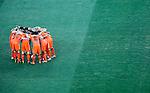 Dutch players before start of the final match of the 2010 FIFA World Cup - Johannesburg, South Africa, Sunday, July, 11, 2010. Final match, Netherlands vs Spain, Soccer City Stadium (credit & photo: Pedja Milosavljevic / +381 64 1260 959 / thepedja@gmail.com / STARSPORT )