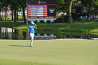 Brooks Koepka (USA) tips his hat to the crowd near the green on 18 during round 4 of the WGC FedEx St. Jude Invitational, TPC Southwind, Memphis, Tennessee, USA. 7/28/2019.<br /> Picture Ken Murray / Golffile.ie<br /> <br /> All photo usage must carry mandatory copyright credit (© Golffile | Ken Murray)
