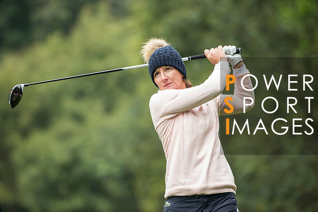 Gwladys Nocera of France tees off the 14th hole during Round 2 of the World Ladies Championship 2016 on 11 March 2016 at Mission Hills Olazabal Golf Course in Dongguan, China. Photo by Victor Fraile / Power Sport Images