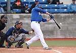 Wildcats' Jake Bennett hits against Utah State University Eastern at Western Nevada College in Carson City, Nev., on Saturday, April 25, 2015. <br /> Photo by Cathleen Allison