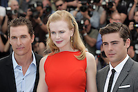 "Matthew McConaughey, Nicole Kidman, Zac Efron - "" Paperboy "" photocall at the 65th Cannes Film Festival at the Palais des Festivals..May 24th, 2012."
