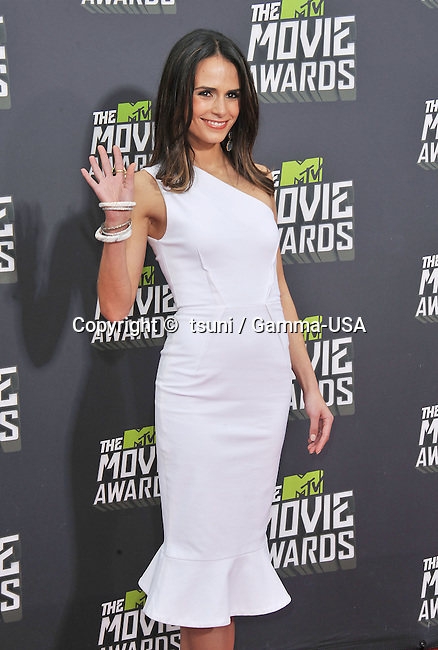 Jordana Brewster  arriving at the  MTV Movie Awards 2013 on the Sony Studio Lot in Los Angeles.