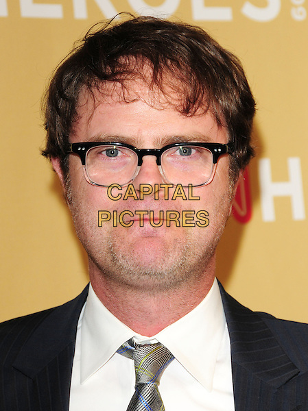 RAINN WILSON .at The 3rd Annual CNN Heroes: An All-Star Tribute held at The Kodak Theatre in Hollywood, California, USA,  November 21st 2009                                                                   .portrait headshot glasses white shirt tie .CAP/RKE/DVS.©DVS/RockinExposures/Capital Pictures