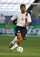 Pablo Mastroeni dribbles the ball. USA (0) vs Morocco (1), May 23, 2006, at The Coliseum in Nashville, Tenn.