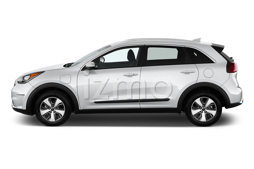 Car driver side profile view of a 2018 KIA Niro LX PHEV 5 Door Hatchback