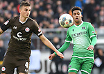 30.11.2019,  GER; 2. FBL, FC St. Pauli vs Hannover 96 ,DFL REGULATIONS PROHIBIT ANY USE OF PHOTOGRAPHS AS IMAGE SEQUENCES AND/OR QUASI-VIDEO, im Bild Linton Maina (Hannover #11) versucht sich gegen Philipp Ziereis (Pauli #04) durchzusetzen Foto © nordphoto / Witke *** Local Caption ***