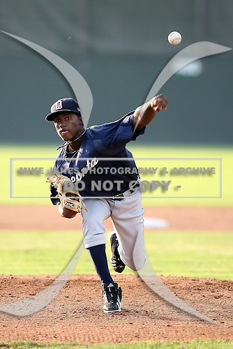 July 23 2008:  Pitcher Darwin De Leon of the Oneonta Tigers, Class-A affiliate of the Detroit Tigers, during a game at Dwyer Stadium in Batavia, NY.  Photo by:  Mike Janes/Four Seam Images