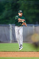 Lynchburg Hillcats shortstop Yu-Cheng Chang (6) throws to second base during a game against the Wilmington Blue Rocks on June 3, 2016 at Judy Johnson Field at Daniel S. Frawley Stadium in Wilmington, Delaware.  Lynchburg defeated Wilmington 16-11 in ten innings.  (Mike Janes/Four Seam Images)