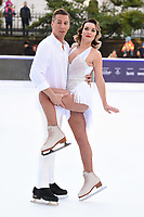 Candice Brown &amp; Matt Evers at the &quot;Dancing on Ice&quot; launch photocall at the Natural History Museum, London, UK. <br /> 19 December  2017<br /> Picture: Steve Vas/Featureflash/SilverHub 0208 004 5359 sales@silverhubmedia.com