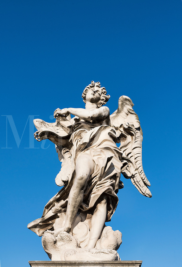 Angel with the Superscription, Ponte Sant'Angelo bridge, Rome, Italy