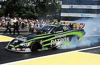 Jun. 3, 2012; Englishtown, NJ, USA: NHRA funny car driver Alexis DeJoria during the Supernationals at Raceway Park. Mandatory Credit: Mark J. Rebilas-