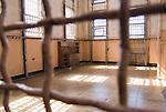 The site of the former prison library in Alcatraz prison.