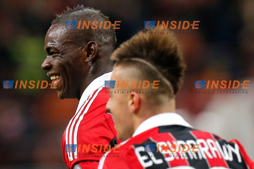 "Mario Balotelli Milan, Stephan El Shaarawy Milan, Milano 3/2/2013 .Stadio ""S.Siro"".Football Calcio 2012/2013 Serie A.Milan Vs Udinese.Foto Marco Bertorello Insidefoto"