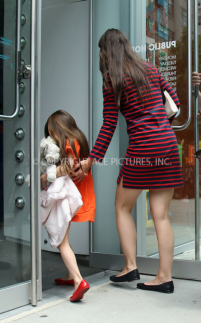 WWW.ACEPIXS.COM . . . . .  ....July 14 2012, New York City....Actress Katie Holmes took her daughter Suri Cruise to the Children's Museum of Art on July 14 2012 in New York City....Please byline: PHILIP VAUGHAN - ACE PICTURES.... *** ***..Ace Pictures, Inc:  ..Philip Vaughan (212) 243-8787 or (646) 769 0430..e-mail: info@acepixs.com..web: http://www.acepixs.com