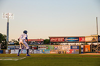Byron Buxton (7) of the Chattanooga Lookouts leads off during a game between the Jackson Generals and Chattanooga Lookouts at AT&T Field on May 7, 2015 in Chattanooga, Tennessee. (Brace Hemmelgarn/Four Seam Images)